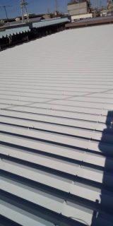 川崎市川崎区で折半屋根塗装